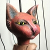 Red Cat - a rod marionette made for Ruthin Crafts Centre's exhibition ' ...a Clowder of Cats'. <iframe src=