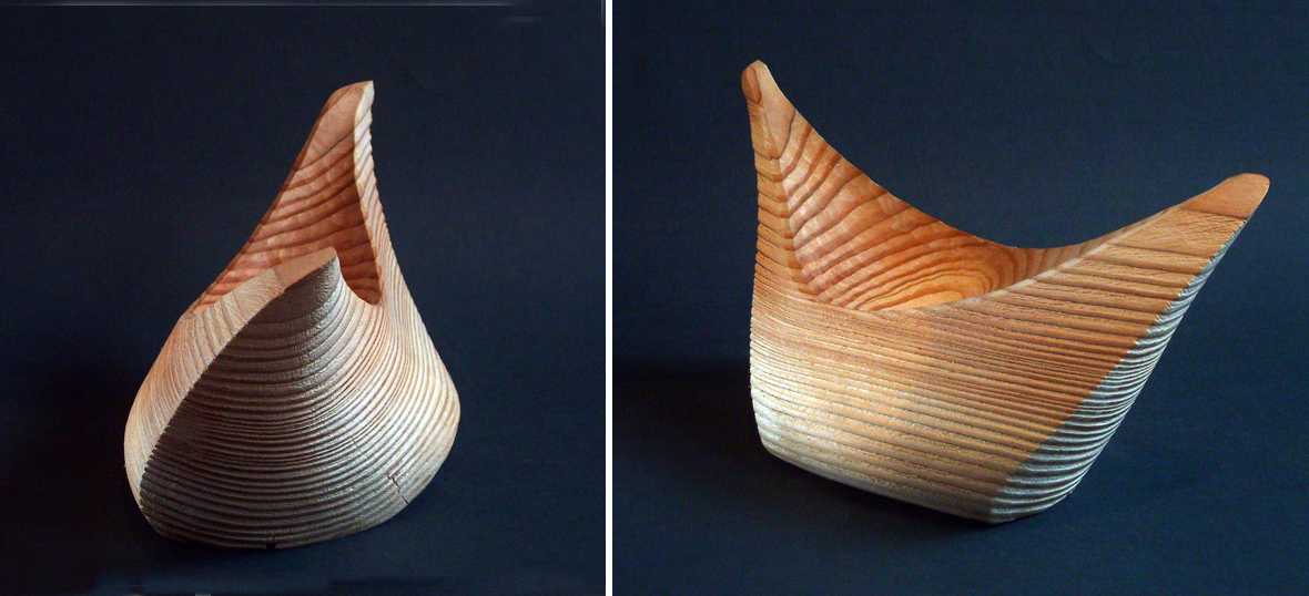 Boat bowl - distress recovered wood.