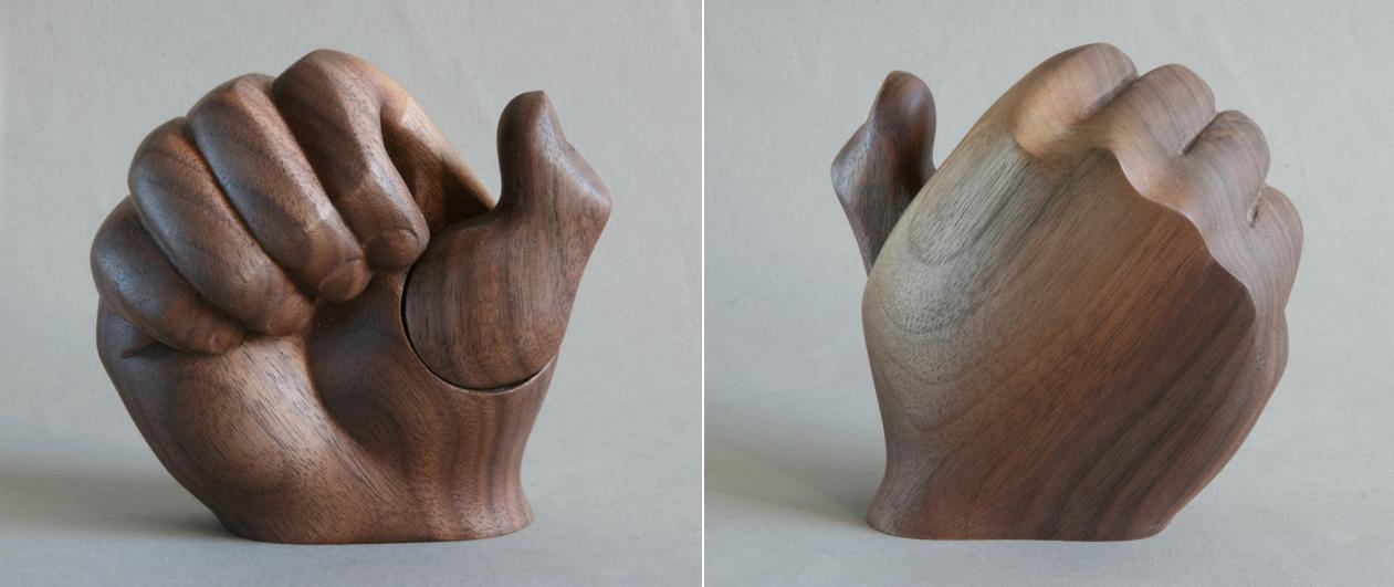 Jewelry box in walnut - commissioned.