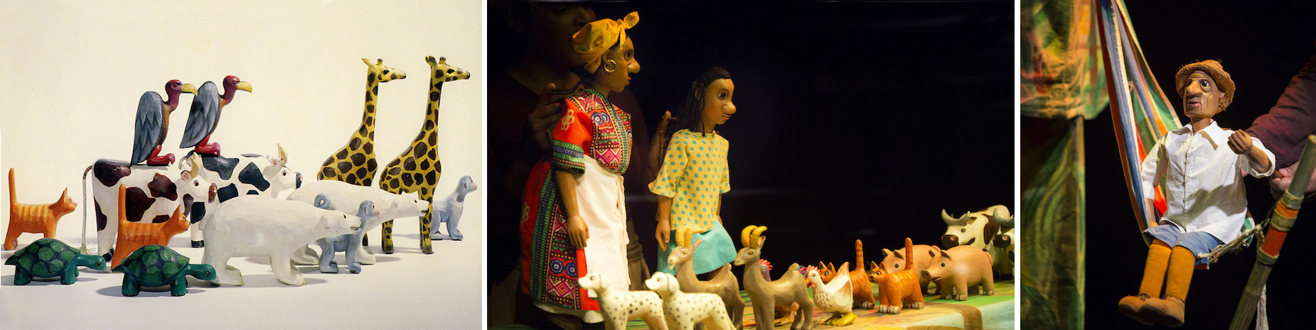Go Noah Go' 2017 Little Angel Theatre - puppets carved and painted by Jan Zalud, costumes by Gerry Spiller.