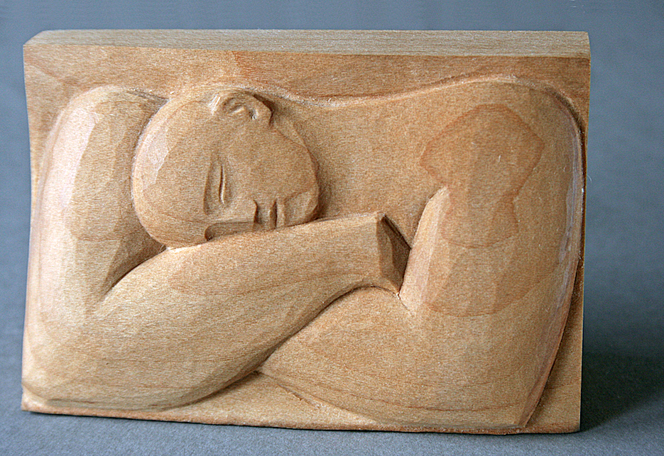 Sleep Relief - carved in Lime.