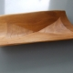 Square bowl-Chestnut.