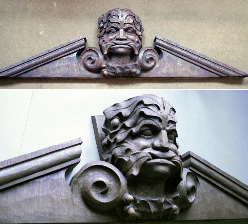 Pediment - commissioned.
