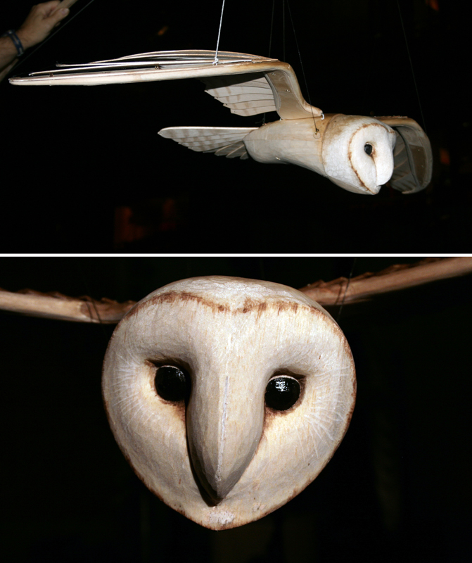 Barn Owl made for 'Love Labours Lost'. Royal Shakespear Company production.