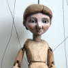 'Boy. a Czech style marionette with bunraku style 'Mayor'.