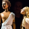 Venus (head) and Adonis carved by Jan Zalud, designed, painted and costumed by Lyndie Wright for a RSC and Little Angel production - photos Lucy Barriball.