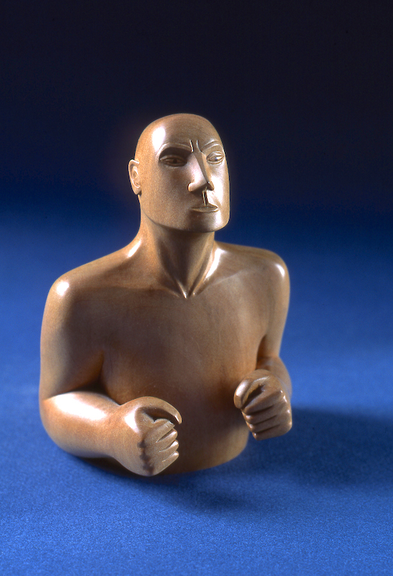 The Pugilist - carved in Lime. sold