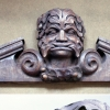 commissioned pediment carved in Mahogany.